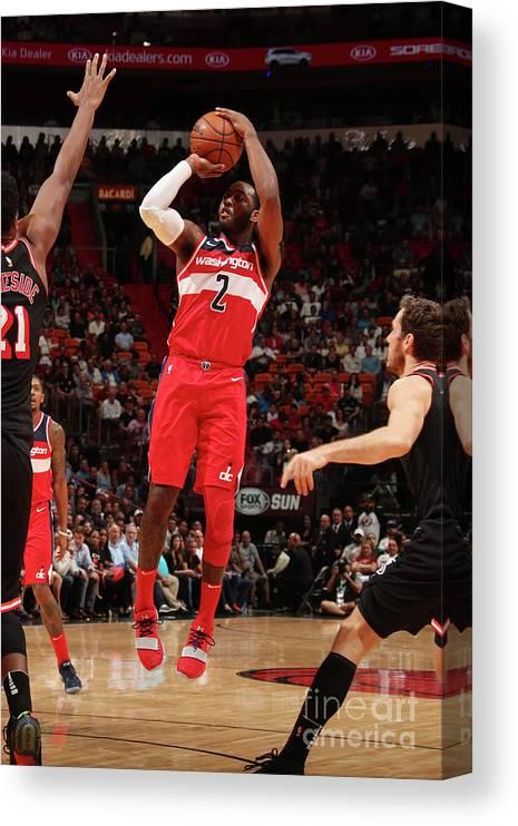 Nba Pro Basketball Canvas Print featuring the photograph John Wall by Issac Baldizon