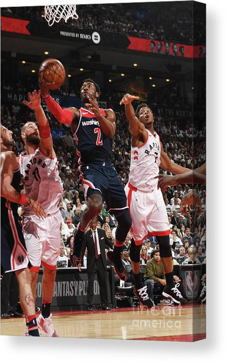 Playoffs Canvas Print featuring the photograph John Wall by Ron Turenne