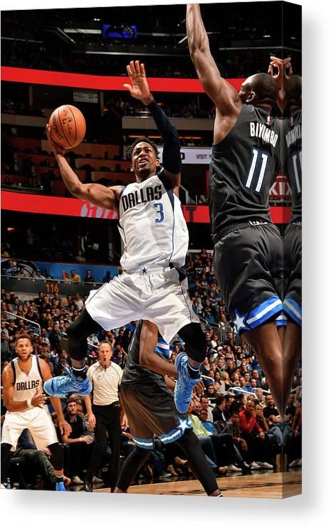Nba Pro Basketball Canvas Print featuring the photograph Jonathan Gibson by Fernando Medina