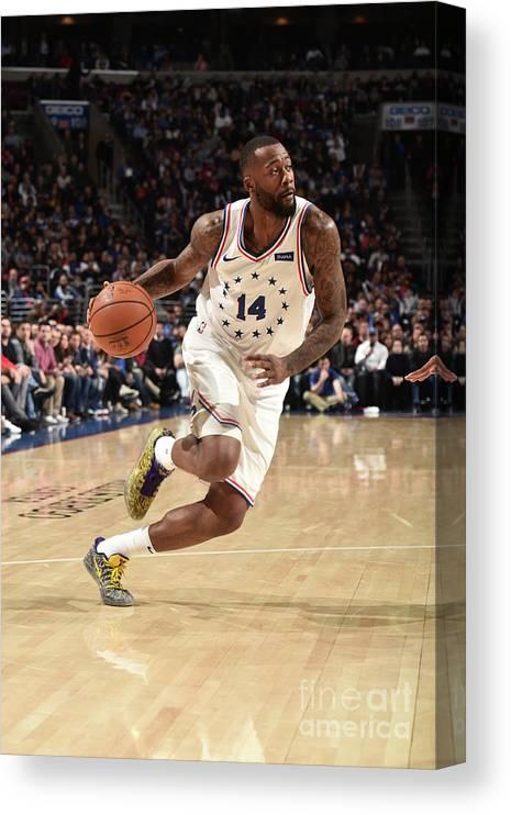 Nba Pro Basketball Canvas Print featuring the photograph Jonathon Simmons by David Dow
