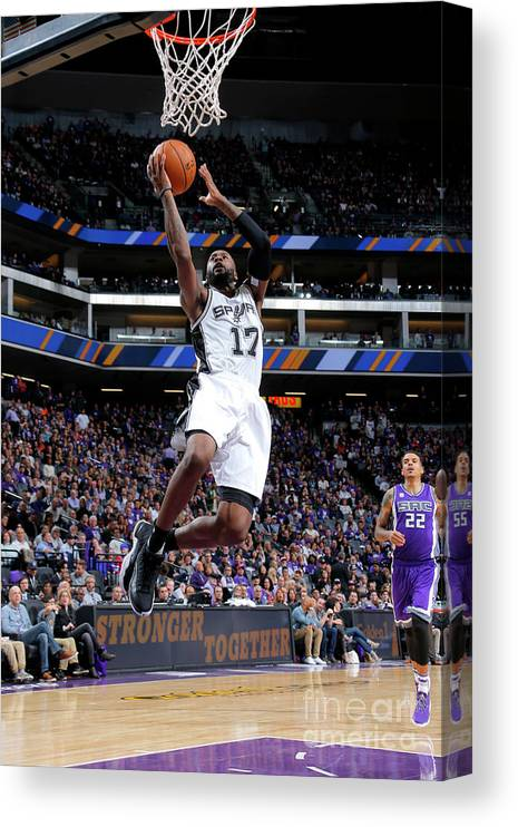 Nba Pro Basketball Canvas Print featuring the photograph Jonathon Simmons by Rocky Widner