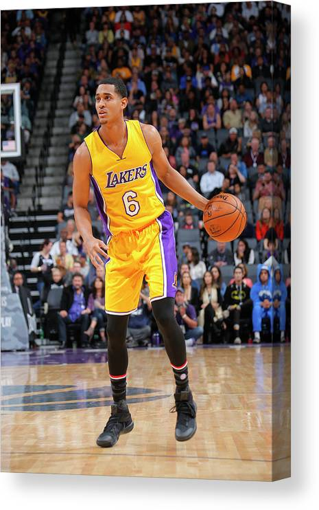 Nba Pro Basketball Canvas Print featuring the photograph Jordan Clarkson by Rocky Widner