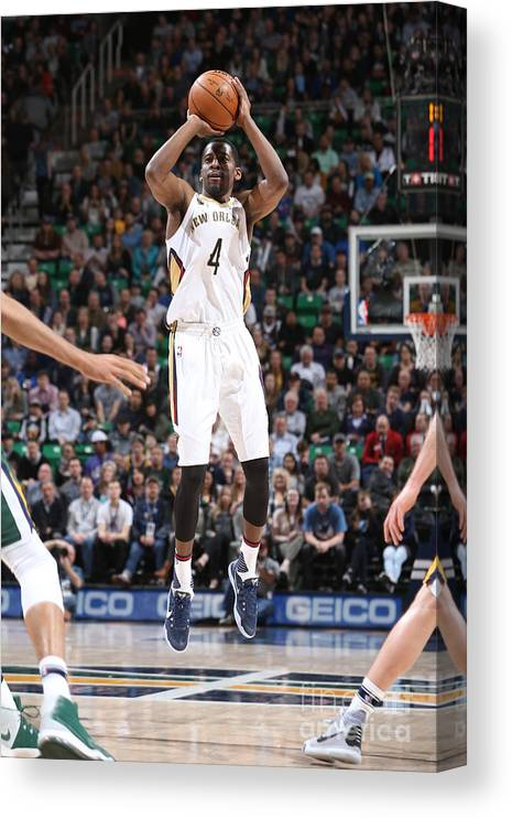 Nba Pro Basketball Canvas Print featuring the photograph Jordan Crawford by Melissa Majchrzak