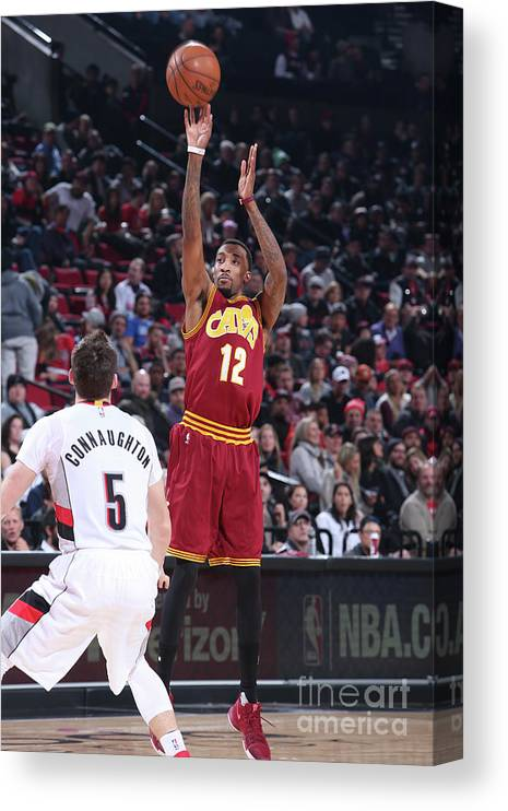 Nba Pro Basketball Canvas Print featuring the photograph Jordan Mcrae by Sam Forencich