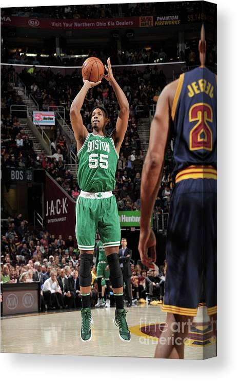 Nba Pro Basketball Canvas Print featuring the photograph Jordan Mickey by David Liam Kyle