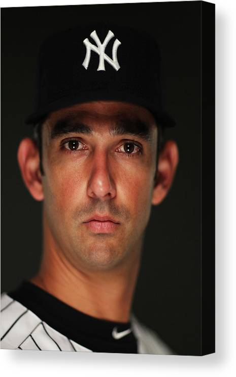Media Day Canvas Print featuring the photograph Jorge Posada by Al Bello