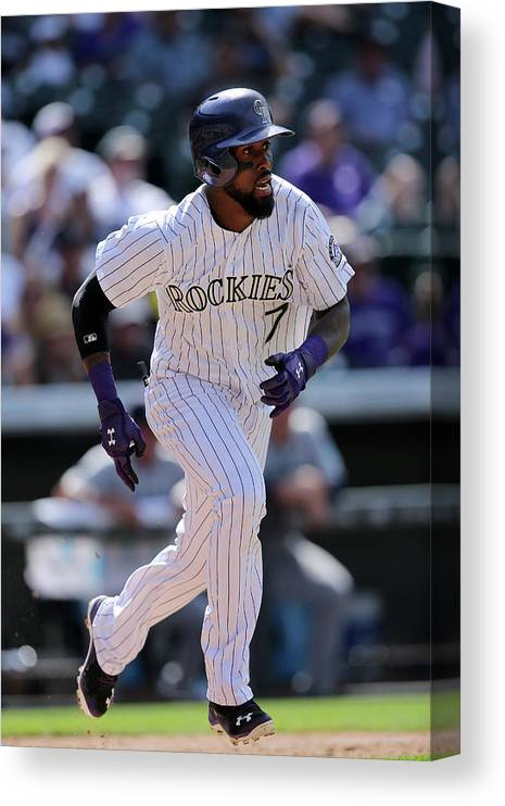 People Canvas Print featuring the photograph Jose Reyes by Doug Pensinger