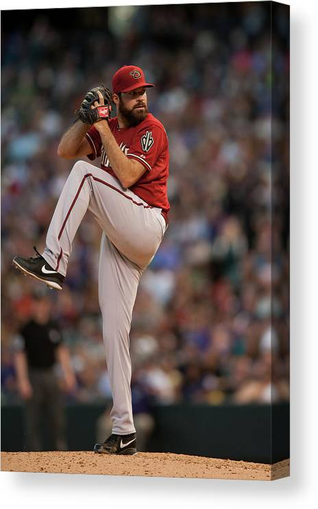 Baseball Pitcher Canvas Print featuring the photograph Josh Fields by Dustin Bradford