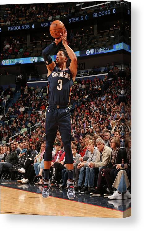 Smoothie King Center Canvas Print featuring the photograph Josh Hart by Layne Murdoch Jr.