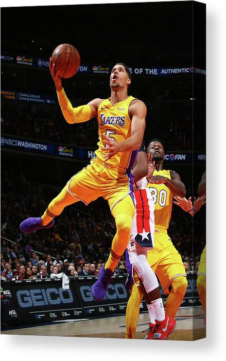 Nba Pro Basketball Canvas Print featuring the photograph Josh Hart by Ned Dishman