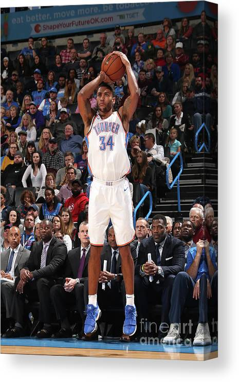 Nba Pro Basketball Canvas Print featuring the photograph Josh Huestis by Layne Murdoch