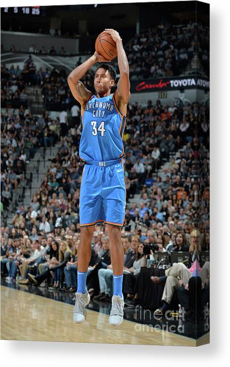 Nba Pro Basketball Canvas Print featuring the photograph Josh Huestis by Mark Sobhani