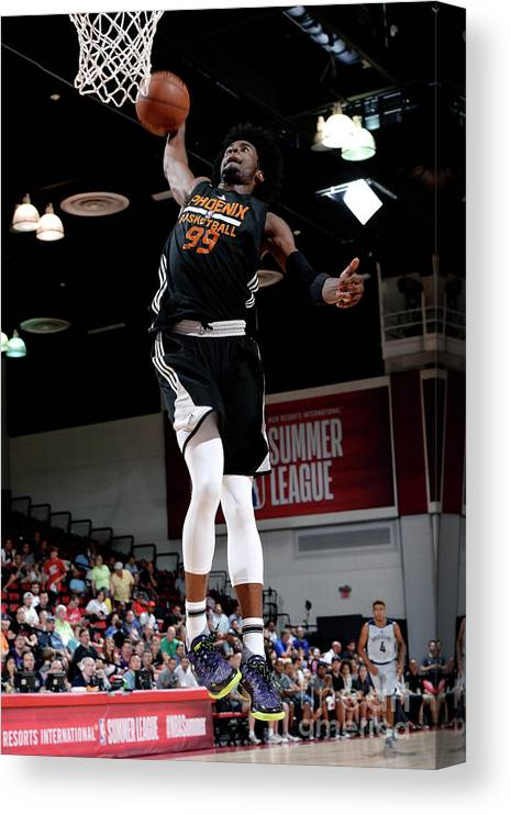 Nba Pro Basketball Canvas Print featuring the photograph Josh Jackson by David Dow