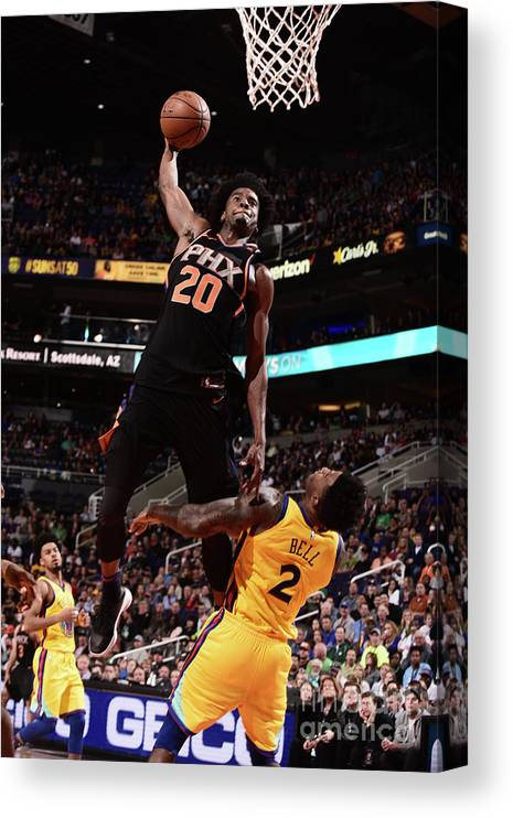 Sports Ball Canvas Print featuring the photograph Josh Jackson by Michael Gonzales