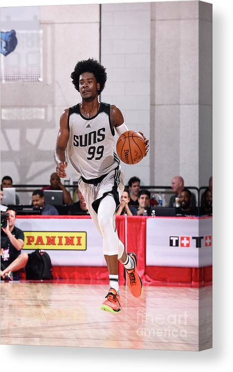 Nba Pro Basketball Canvas Print featuring the photograph Josh Jackson by Noah Graham