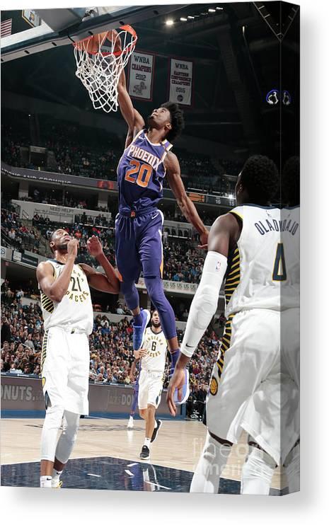 Nba Pro Basketball Canvas Print featuring the photograph Josh Jackson by Ron Hoskins