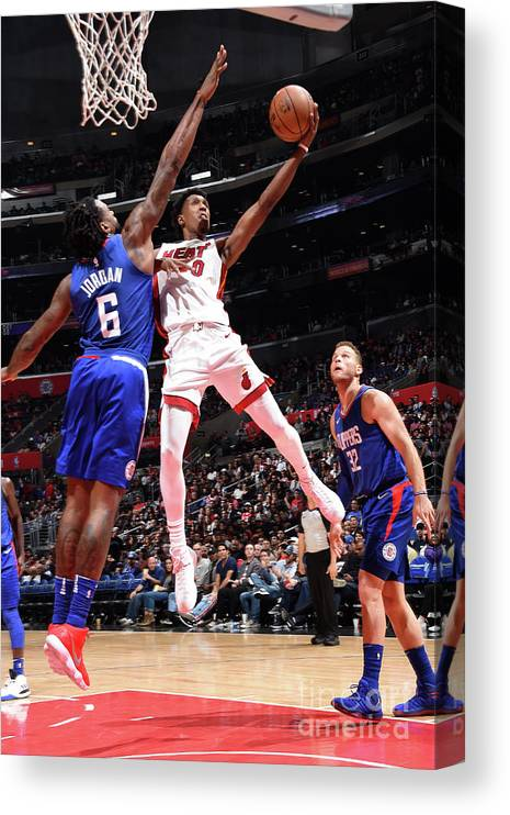 Nba Pro Basketball Canvas Print featuring the photograph Josh Richardson by Andrew D. Bernstein