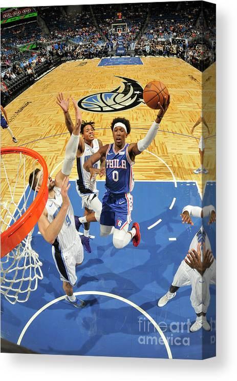 Nba Pro Basketball Canvas Print featuring the photograph Josh Richardson by Fernando Medina