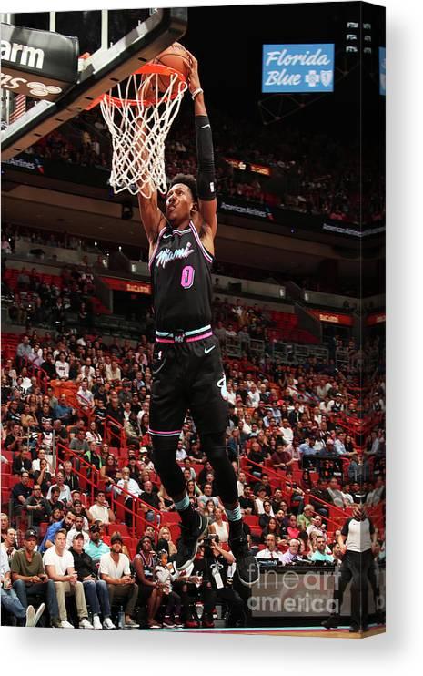 Nba Pro Basketball Canvas Print featuring the photograph Josh Richardson by Issac Baldizon