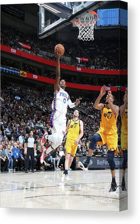 Nba Pro Basketball Canvas Print featuring the photograph Josh Richardson by Melissa Majchrzak