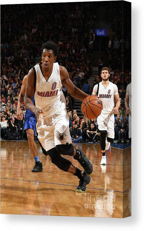 Nba Pro Basketball Canvas Print featuring the photograph Josh Richardson by Ron Turenne