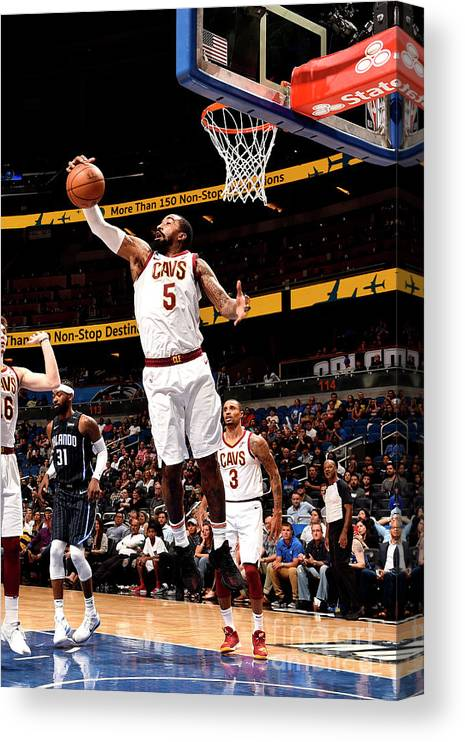 Nba Pro Basketball Canvas Print featuring the photograph J.r. Smith by Gary Bassing