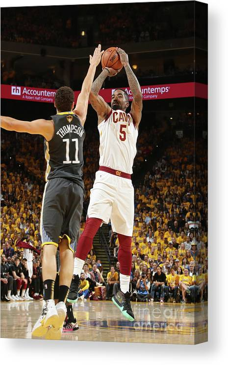 Playoffs Canvas Print featuring the photograph J.r. Smith by Nathaniel S. Butler