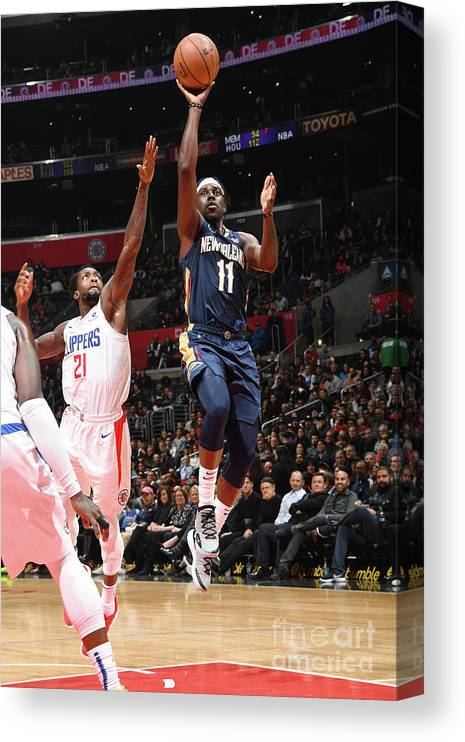 Nba Pro Basketball Canvas Print featuring the photograph Jrue Holiday by Andrew D. Bernstein