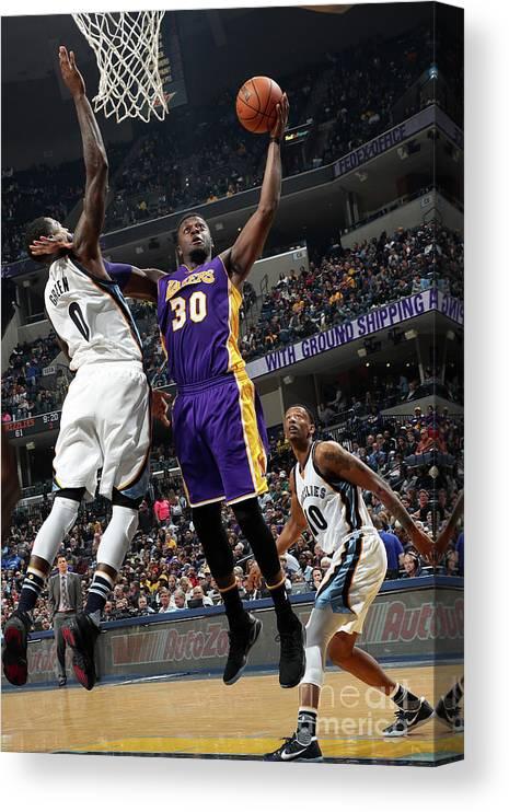 Nba Pro Basketball Canvas Print featuring the photograph Julius Randle by Joe Murphy