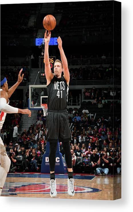 Nba Pro Basketball Canvas Print featuring the photograph Justin Hamilton by Chris Schwegler