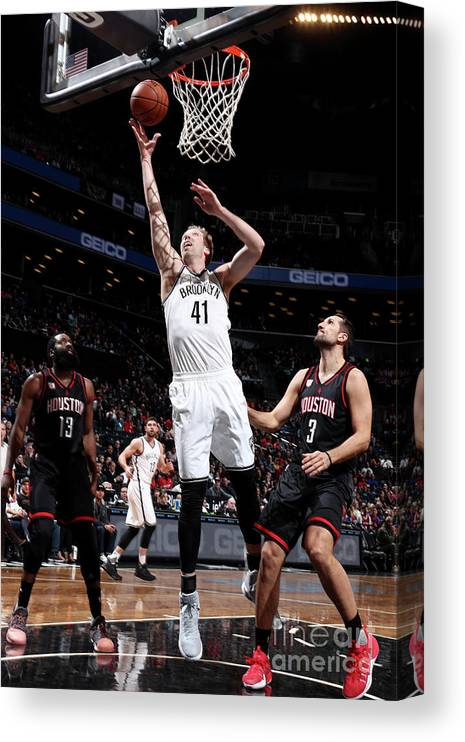 Nba Pro Basketball Canvas Print featuring the photograph Justin Hamilton by Nathaniel S. Butler