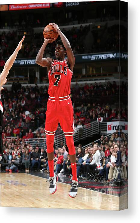 Nba Pro Basketball Canvas Print featuring the photograph Justin Holiday by Gary Dineen