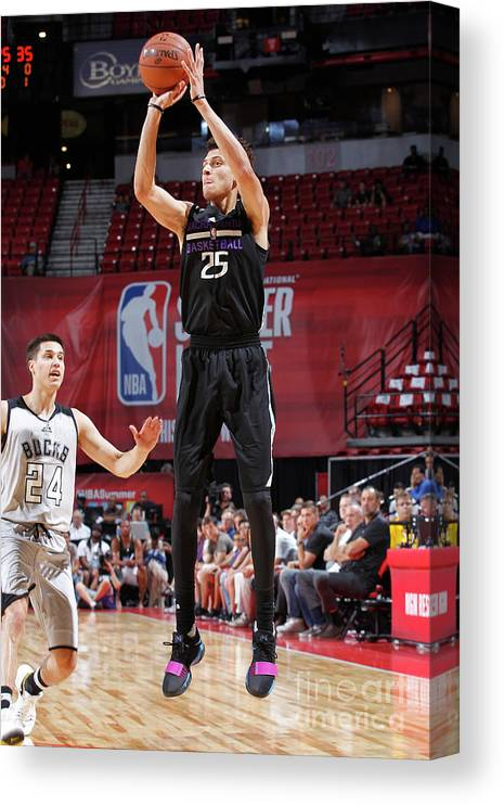 Nba Pro Basketball Canvas Print featuring the photograph Justin Jackson by Jack Arent