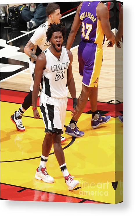 Justise Winslow Canvas Print featuring the photograph Justise Winslow by Joe Murphy