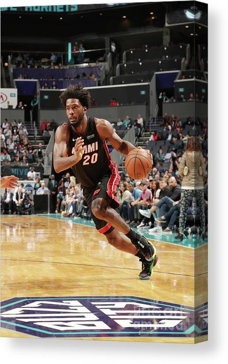 Justise Winslow Canvas Print featuring the photograph Justise Winslow by Kent Smith