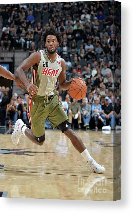 Justise Winslow Canvas Print featuring the photograph Justise Winslow by Mark Sobhani