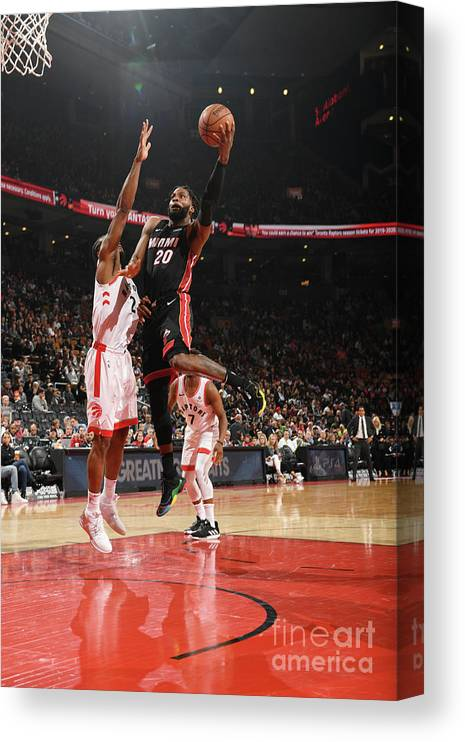 Justise Winslow Canvas Print featuring the photograph Justise Winslow by Ron Turenne