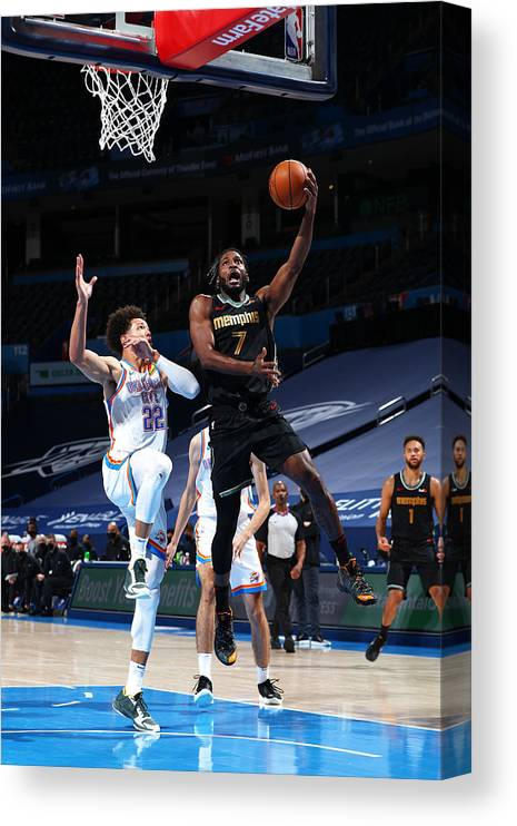 Justise Winslow Canvas Print featuring the photograph Justise Winslow by Zach Beeker