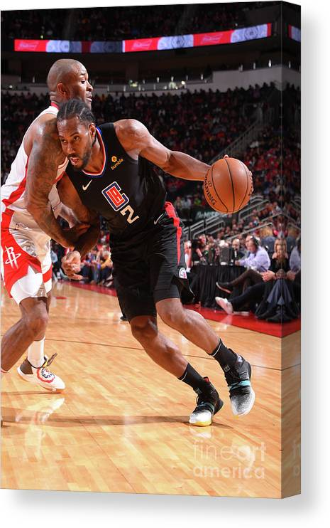 Nba Pro Basketball Canvas Print featuring the photograph Kawhi Leonard by Bill Baptist