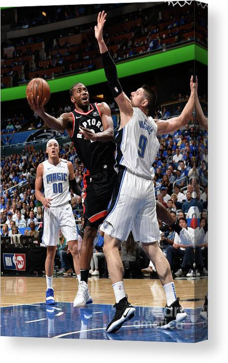 Playoffs Canvas Print featuring the photograph Kawhi Leonard by Gary Bassing