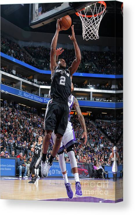 Nba Pro Basketball Canvas Print featuring the photograph Kawhi Leonard by Rocky Widner