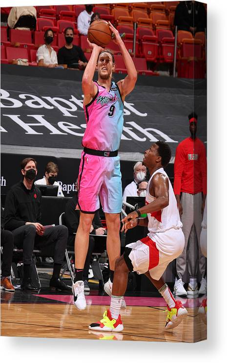 Nba Pro Basketball Canvas Print featuring the photograph Kelly Olynyk by Issac Baldizon