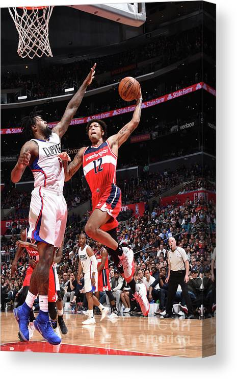 Nba Pro Basketball Canvas Print featuring the photograph Kelly Oubre by Andrew D. Bernstein