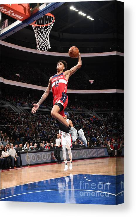 Nba Pro Basketball Canvas Print featuring the photograph Kelly Oubre by Chris Schwegler