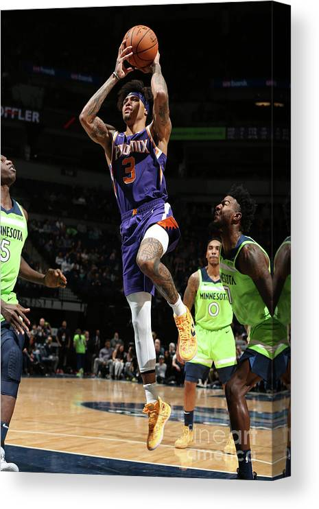 Nba Pro Basketball Canvas Print featuring the photograph Kelly Oubre by David Sherman