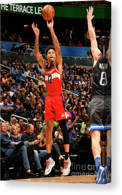 Nba Pro Basketball Canvas Print featuring the photograph Kelly Oubre by Fernando Medina