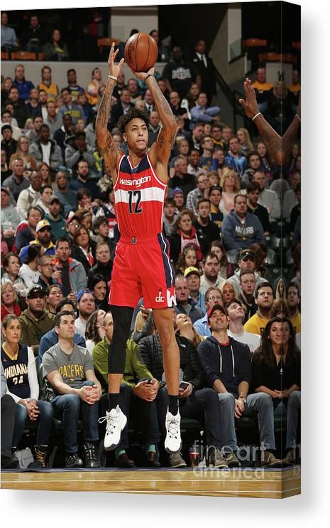 Nba Pro Basketball Canvas Print featuring the photograph Kelly Oubre by Gary Dineen