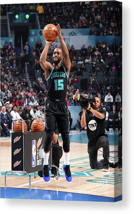 Kemba Walker Canvas Print featuring the photograph Kemba Walker by Andrew D. Bernstein