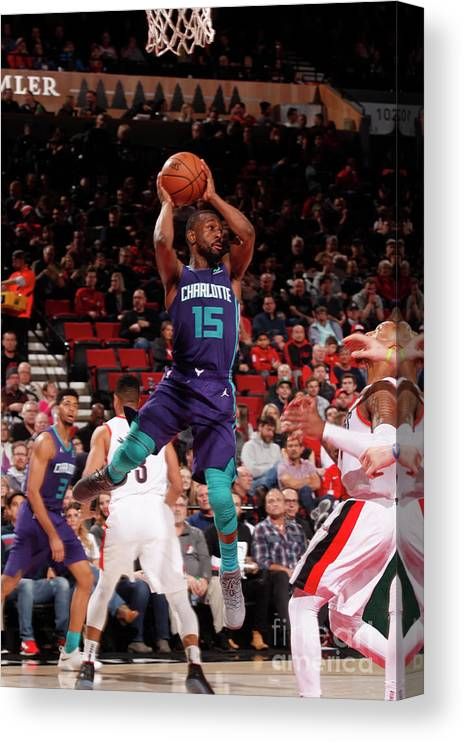 Kemba Walker Canvas Print featuring the photograph Kemba Walker by Cameron Browne