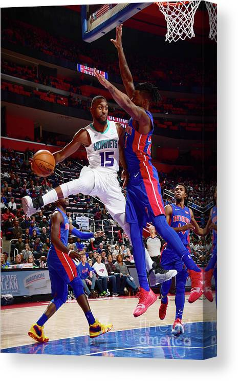 Kemba Walker Canvas Print featuring the photograph Kemba Walker by Chris Schwegler